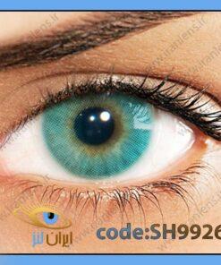 لنز چشم رنگی زیبایی بدون نمره بدون دور سبز آبی متوسط روشن سالانه مارین هیدروکور برند سولوتیکا