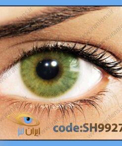 لنز چشم رنگی زیبایی بدون نمره بدون دور خاکی با ته رنگ سبز متوسط روشن سالانه امبر هیدروکور