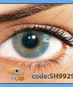 لنز چشم رنگی زیبایی بدون نمره بدون دور طوسی خاکستری آبی متوسط روشن سالانه گرافیت هیدروکور برند سولوتیکا