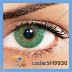 لنز چشم رنگی زیبایی بدون نمره بدون دور سبز جنگلی متوسط روشن سالانه اسمیرالدا هیدروکور برند سولوتیکا