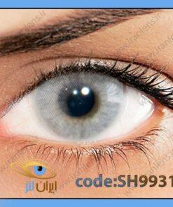 لنز چشم رنگی زیبایی بدون نمره بدون دور طوسی لیمویی روشن سالانه کریستال هیدروکور