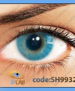 لنز چشم رنگی زیبایی بدون نمره بدون دور آبی خالص روشن سالانه ازول هیدروکور برند سولوتیکا