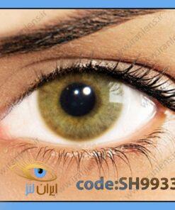 لنز چشم رنگی زیبایی بدون نمره بدون دور خاکی عسلی متوسط سالانه اولا هیدروکور