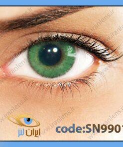 لنز چشم رنگی زیبایی بدون نمره دوردار سبز یشمی سالانه ورده برند سولوتیکا
