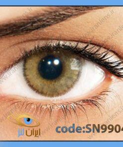 لنز چشم رنگی زیبایی بدون نمره دوردار خاکی عسلی سالانه اوکر برند سولوتیکا