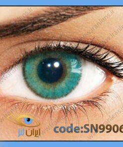 لنز چشم رنگی زیبایی بدون نمره دوردار سبز آبی متوسط روشن سالانه مارین برند سولوتیکا