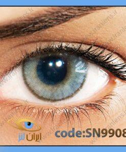 لنز چشم رنگی زیبایی بدون نمره دوردار طوسی آبی روشن سالانه آیس برند سولوتیکا