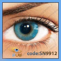 لنز چشم رنگی زیبایی بدون نمره دوردار آبی خالص روشن سالانه ازول برند سولوتیکا