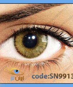 لنز چشم رنگی زیبایی بدون نمره دوردار خاکی عسلی متوسط سالانه اولاب