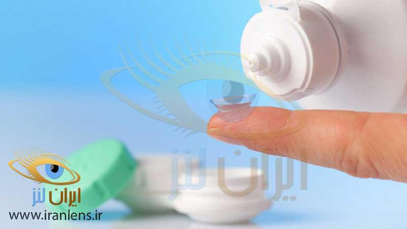 شستن لنز چشم برای اولین استفاده