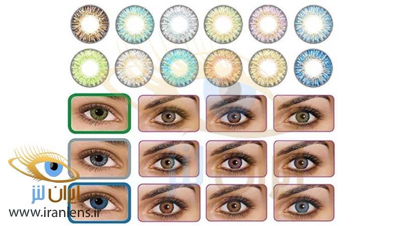 انتخاب درست رنگ لنز چشم چگونه است