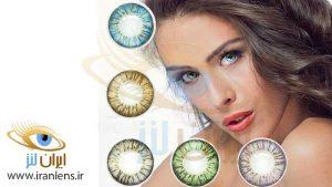 انتخاب درست رنگ لنز چشم بر اساس تن پوست سرد