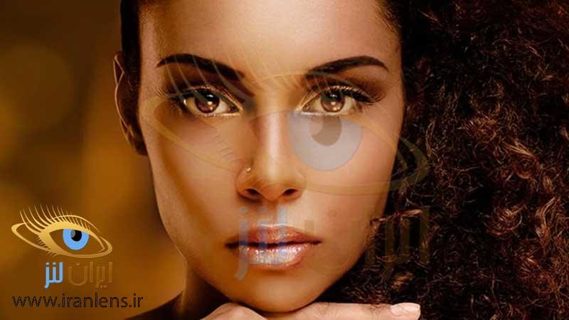 انتخاب درست رنگ لنز چشم بر اساس تن پوست گرم
