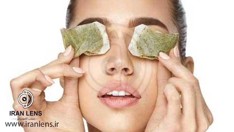 درمان عفونت چشم با چای سبز در خانه