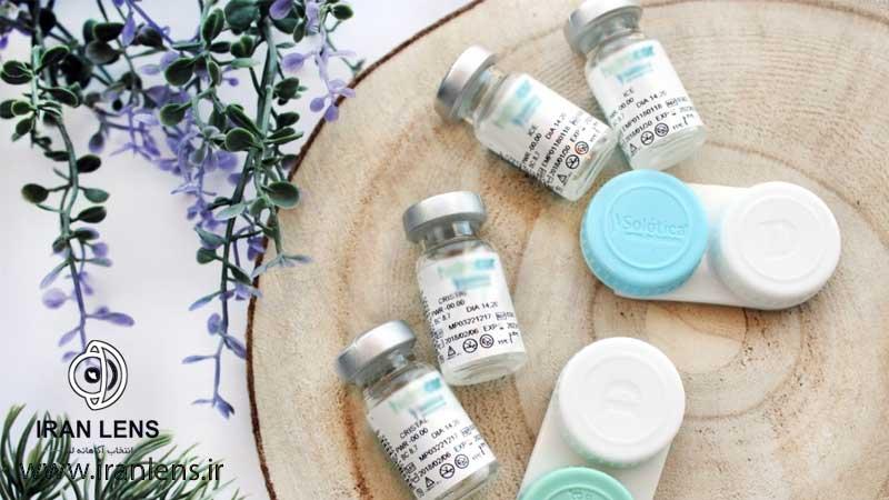 لنز طبی نمره دار بی رنگ سالانه یا دائم
