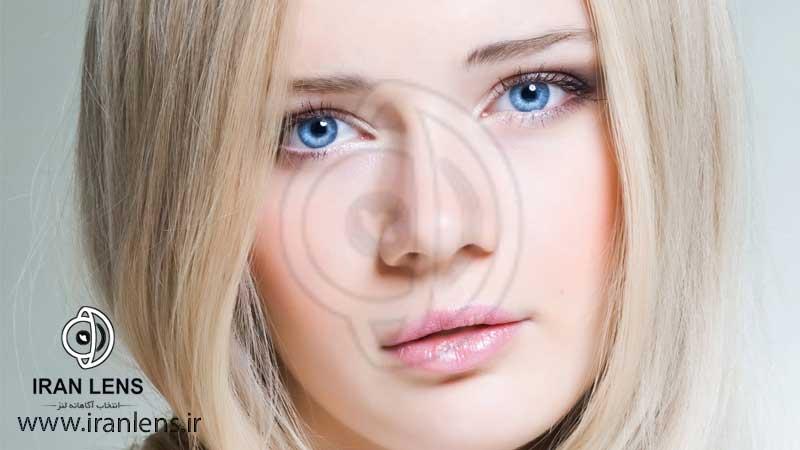لنز آبی برای سفید پوست ها