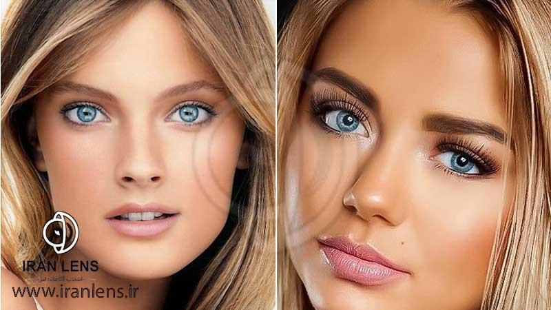 لنز آبی برای پوست های گندمی و برنز