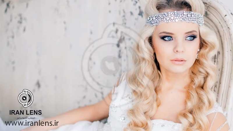 لنز آبی برای عروس