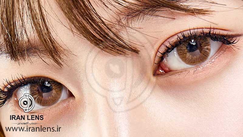 لنز رنگی براق کننده طبیعی