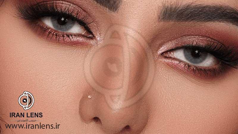 لنز چشم رنگی طبیعی طوسی سبز