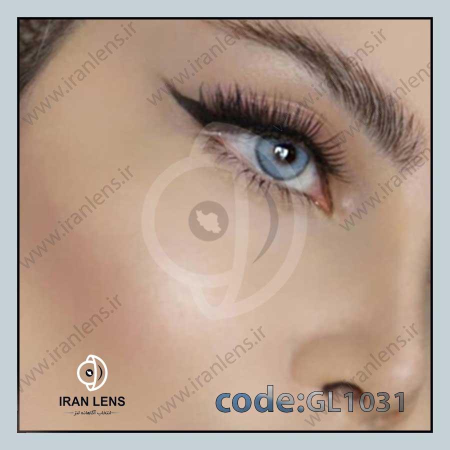 لنز رنگی آیس بلو سالانه برند گلوریا