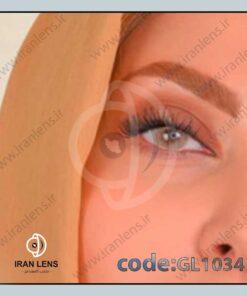لنز رنگی طوسی عسلی روشن بدون دور گلوریا