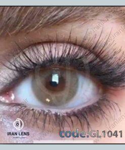 لنز رنگی اوکرعسلی طوسی بدون دور سالانه برند گلوریا