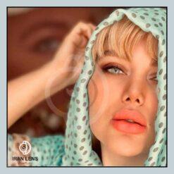 لنز رنگی زیبایی طوسی سبز بدون دور سالانه