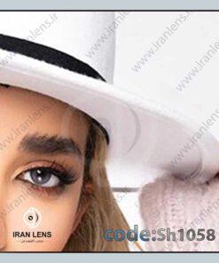 لنز رنگی آیس بلو فصلی دوردار طوسی آبی برند شیخ
