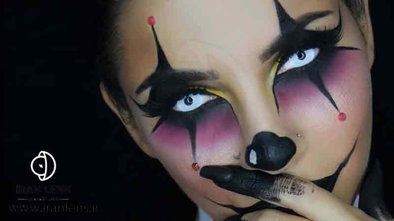لنز چشمی گربه ای و هالووین