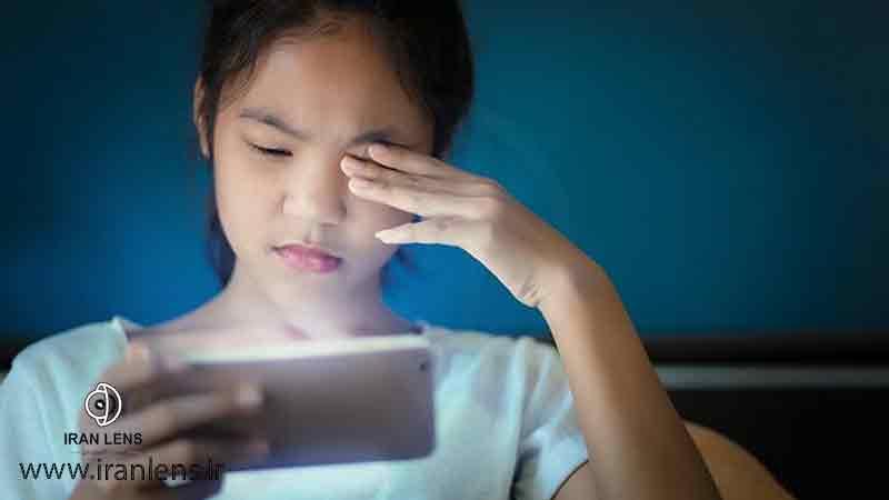 مراقبت از چشم در برابر موبایل