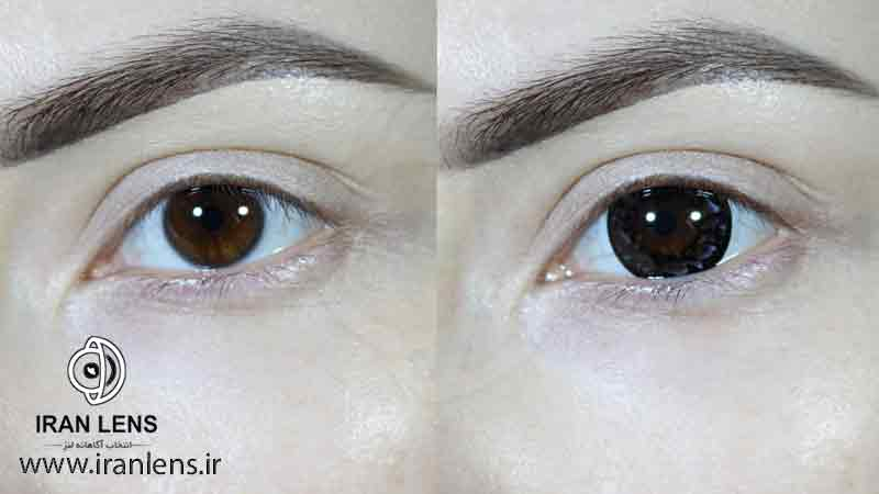 انتخاب رنگ لنز درشت کننده چشم